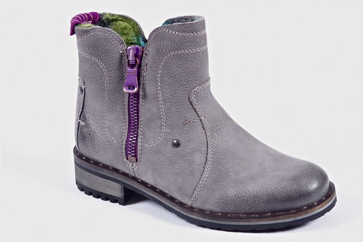 Emily by Josef Seibel - Fun waterproof ankle boot. Fleece lined with inside zipper and decorative outside zipper.  Order now: http://millershoes.com/shop/boot/emily/