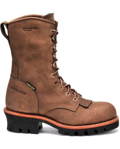 "Men's 10"" Insulated Steel Toe GORE-TEX Logger Boot:"