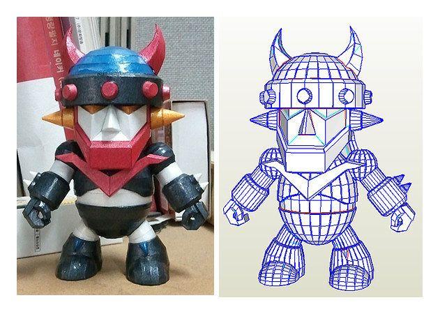 Mô hình giấy SD Taekwon V Robot Ver.2 | Papercraft SD Taekwon V Robot Ver.2.