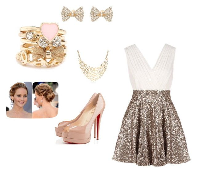 Untitled #8 by abby-mercier on Polyvore featuring polyvore, fashion, style, Christian Louboutin, Charlotte Russe and Coach