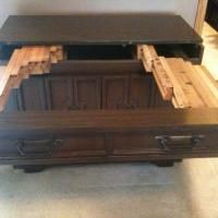 Grandma Leigh Had A Similar Table Cabinet Would Be Great Cutting Surface And