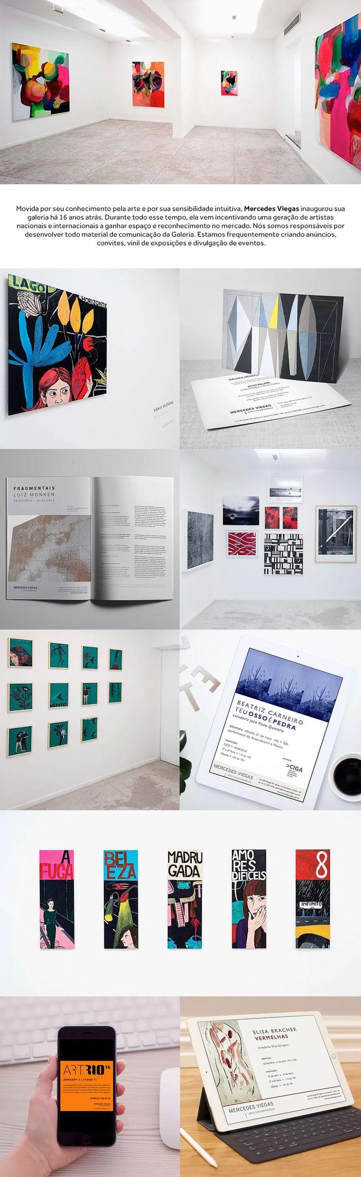 Nós somos responsáveis por desenvolver todo material de comunicação da Galeria. Estamos frequentemente criando anúncios, convites, vinil de exposições e divulgação de eventos.   | logo design graphic design identidade visual branding gallery  |