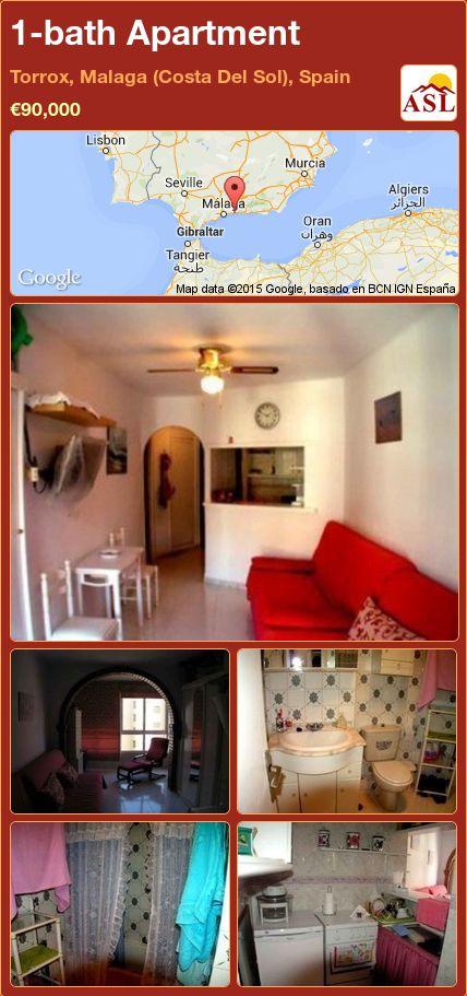 1-bath Apartment in Torrox, Malaga (Costa Del Sol), Spain ►€90,000 #PropertyForSaleInSpain