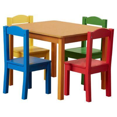 Zoomie Kids Samira Kids 5 Piece Table and Chair Set & Reviews | Wayfair