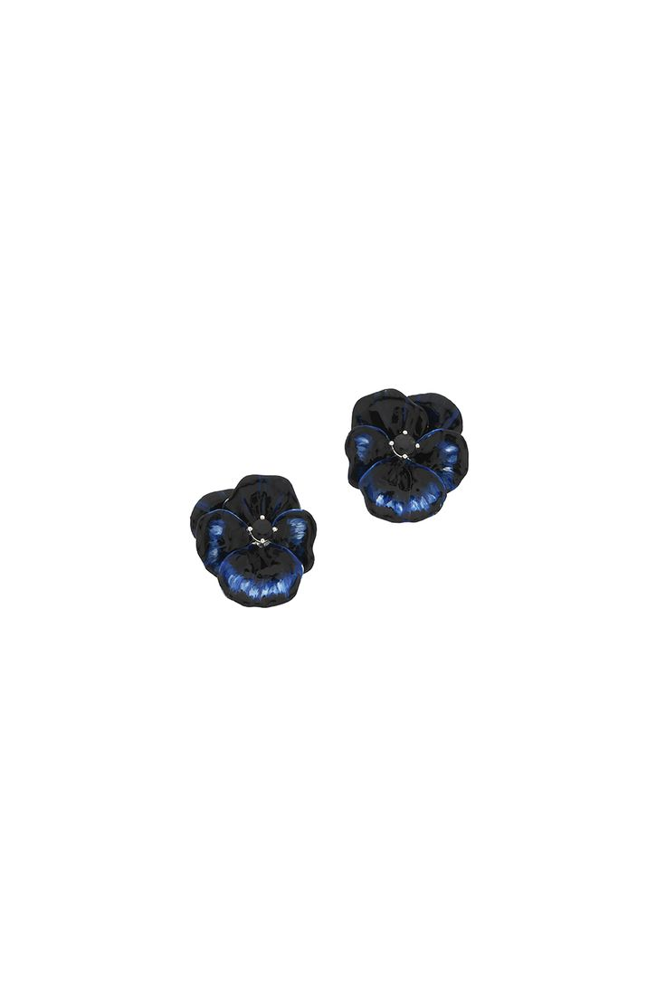 Blue Mini Flower Earrings - Earrings | Karen Walker