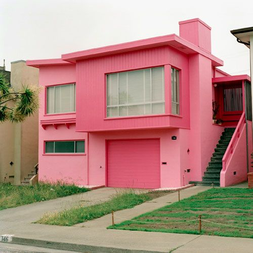 I want to paint my house pink . . . and my husband thinks Im crazy! Lol