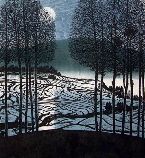 Shi Yi (史一) (Chinese, b. 1939) - Winter Moon, 1999