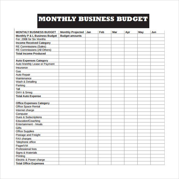Business Budget Template template Pinterest Excel budget