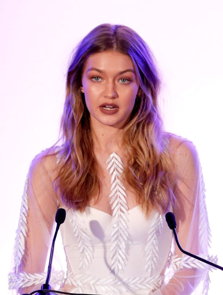 Gigi Hadid speaks onstage during The Daily Front Row 'Fashion Los Angeles Awards' 2016 at Sunset Tower Hotel on March 20, 2016 in West Hollywood, California.