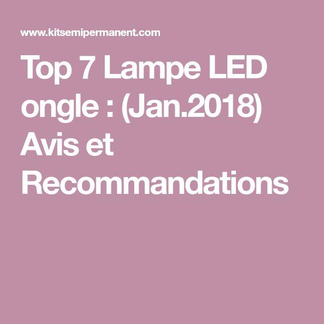 Top 7 Lampe LED ongle : (Jan.2018) Avis et Recommandations