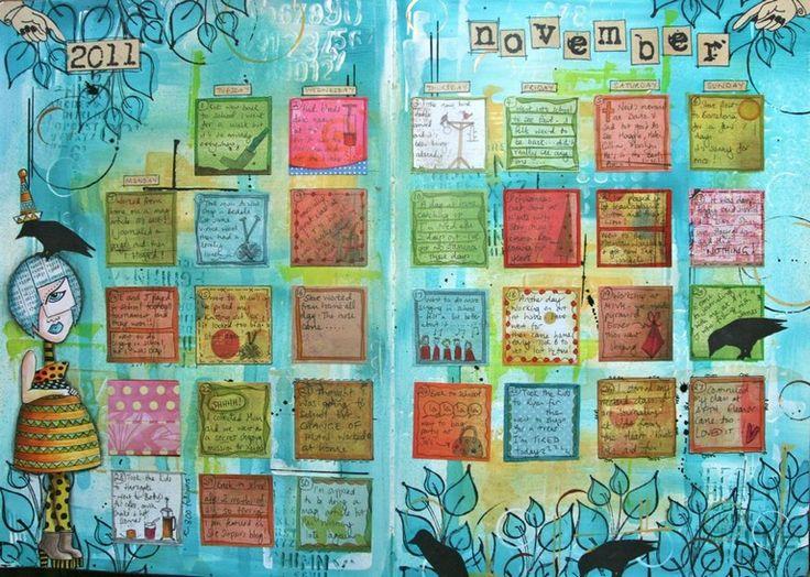 Art Journal Calendar Tutorial : Best kate crane mixed media artist images on pinterest