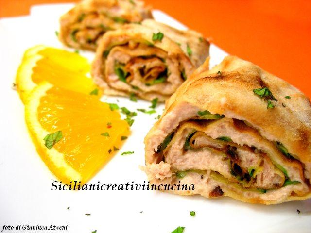 Involtini di pane carasau con tonno e zucchine   SICILIANI CREATIVI IN CUCINA  