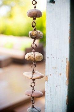Eclectic Garden Style - rain chain