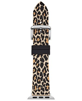 kate spade new york Women's Leopard Silicone Apple Watch