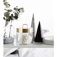 Glass Jar - Medium Brass