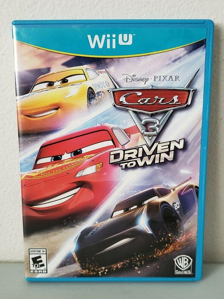 Cars 3 Driven to Win (Nintendo Wii U, 2017) Complete NTSC