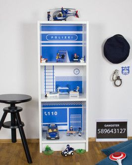 ikea billy hack diy polizeistation f r kinder einfach. Black Bedroom Furniture Sets. Home Design Ideas