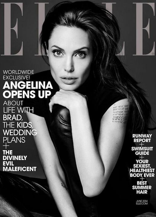 Angelina Jolie Elle Magazine June 2014 #saintlaurent #style #fashion