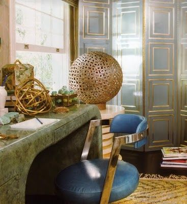 Gold Accents  Kelly Wearstler