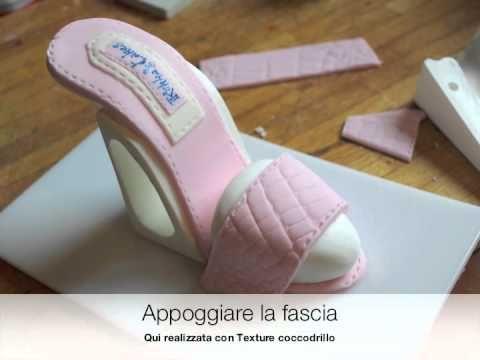 Realizzare una scarpa con il tacco in pasta di zucchero - YouTube