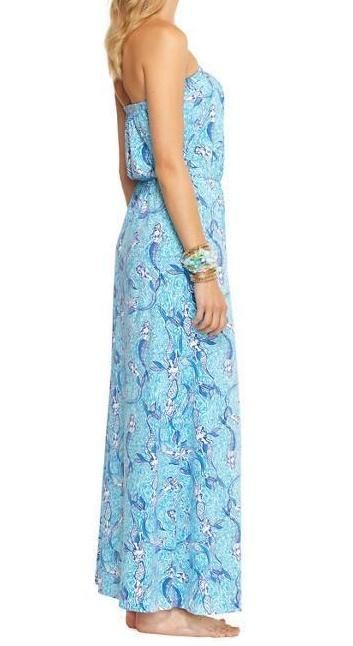 Lilly Pulitzer Marlisa Strapless Maxi Dress in Nice Tail (Mermaid Print)....can i wear this while preggers?!
