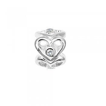 Lovelinks Shiny Love Sterling Silver Bead