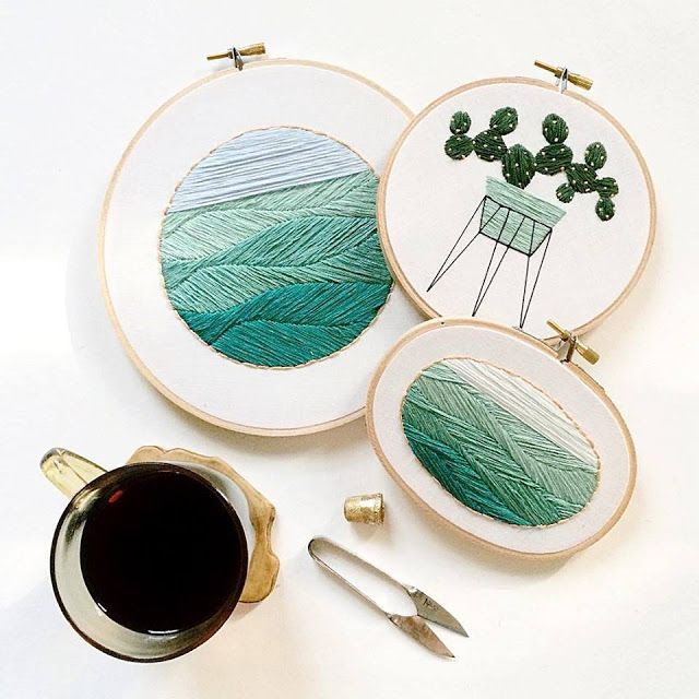 El blog de Dmc: Entrevistamos a Sarah Benning, bordadora de plantas