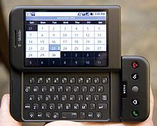 The T-Mobile G1 (a.k.a. HTC Dream), the first Android phone for consumers, launched today in 2008.
