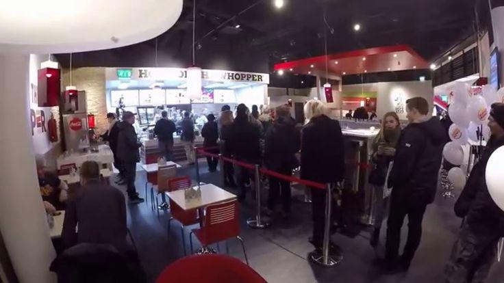 Burger King grand opening at Matkus Shopping Center, Kuopio, Finland.