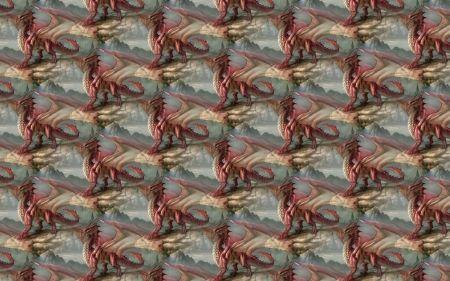 Sárkány minta - fantázia, papír, sárkány, minta, textúra