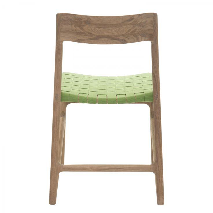 Eetkamerstoelen Fawn (2-delige set) - katoen/massief eikenhout - Groen