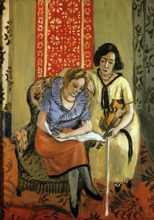 ♪ The Musical Arts ♪ music musician paintings - Henri Matisse | Musicians, 1921