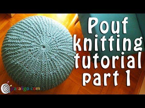 VERY EASY crochet pouf tutorial - crochet cushion / foot stool/ floor cushion / pouf / ottoman - YouTube