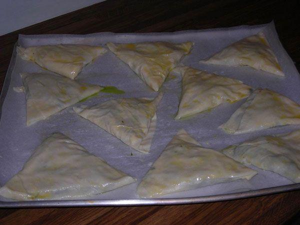 Börek mit Spinat - Ispanaklı Üçgen Börek