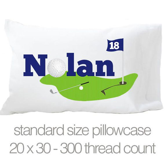 personalized golf pillowcase choose 3 styles pil 057