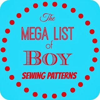 http://www.boyohboyohboycrafts.com/2014/01/mega-list-of-boy-pdf-sewing-patterns.html  Boys sewing patterns