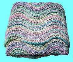 Ravelry: Wavy Baby Blanket pattern by Haley Waxberg