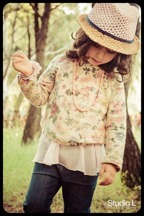 Kid's summer hat, fedora hat, crochet hat, raffia hat