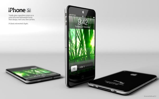 The iPhone SJ has been designed by  Antonio De Rosa from ADR Studio as a tribute to Steve Jobs. The concept is thinner than the iPhone 4S and looks amazing!