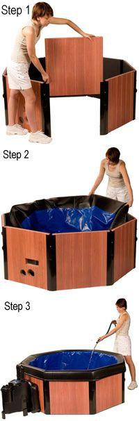 Portable Hot tub. Looks like easy set up. On sale $800.00
