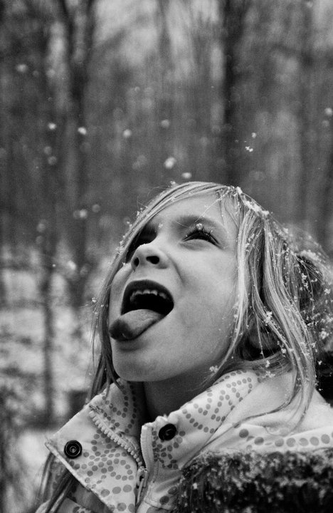 A winter favourite / Sweet young lady my granddaughter enjoying the snow