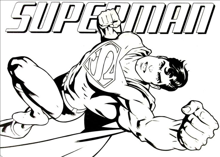 31 best Superman Coloring Art images on Pinterest | Coloring book ...