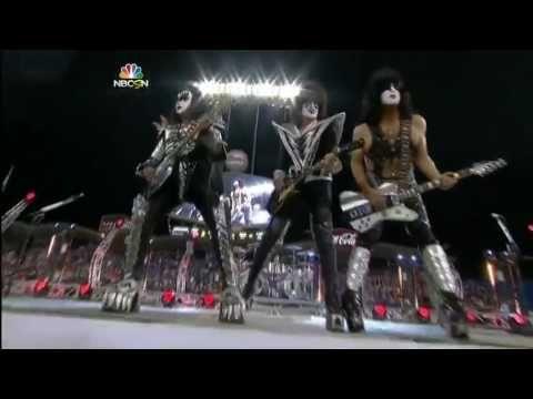 KISS   Detroit Rock City   Dodger Stadium, 25 01 2014 LA Kings vs  Anahe...