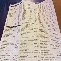 Sushi Blue - Lexington, KY, United States. Sushi menu
