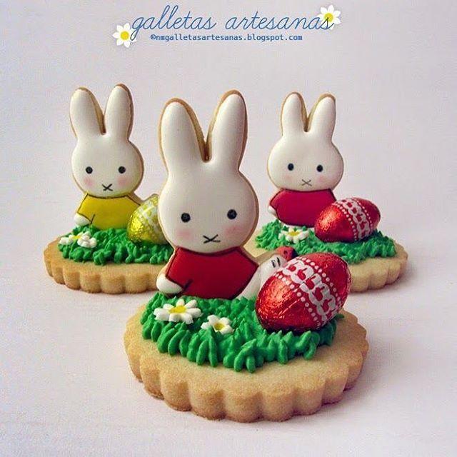 Que lindos estes biscoitinhos de Páscoa. Por Galletas Artesanas, via Pinterest #ideiasdebolosefestas #cookiesdecorados #biscoitosdecorados #galletasdecoradas #pascoa #pascuas #easter #biscoitospascoa