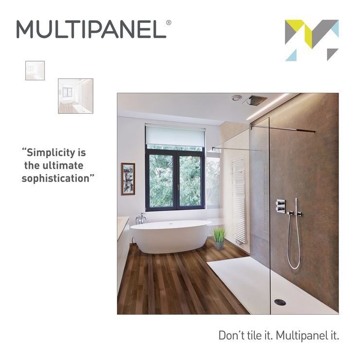 "#WisdomWednesday  ""Simplicity is the ultimate sophistication"" It's true what they say, sometimes less is more!  If you want a stunning minimalistic bathroom that takes your interior to the next level, Multipanel it.   www.multipanel.co.uk"