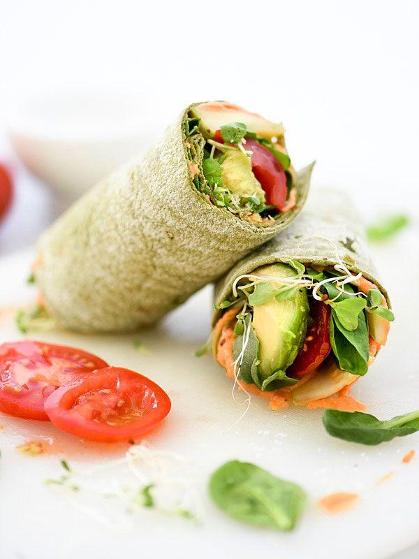 Hummus Veggie Wrap Plus 10 Heavenly Hummus Recipes to Make at Home - foodiecrush