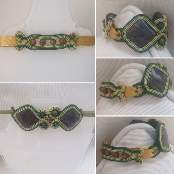 Soutache bracciale e fermaglio Facebook.com/amanoecreations