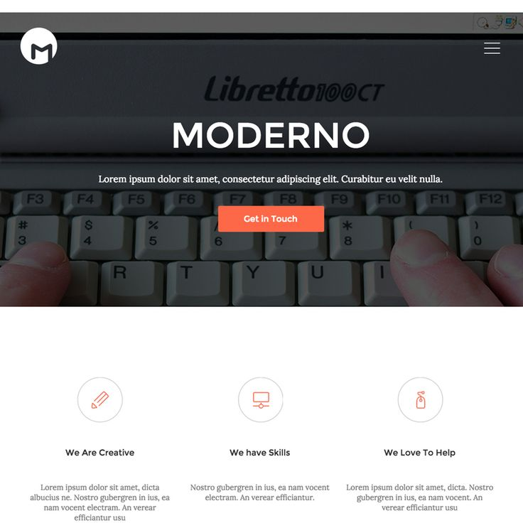 The Moderno One-page Portfolio Bootstrap Responsive Template has been built utilizing HTML5 and CSS3. You can use this template for personal or corporate websites. The one-page style is modern and sleek – and easily customizable for your website.