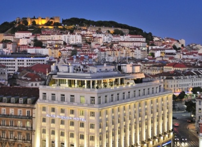 ALTIS AVENIDA - Lisbon, Portugal. Loved this chic hotel - great location right off the main square.